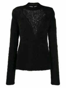 UNRAVEL PROJECT slim-fit inlay knit jumper - Black