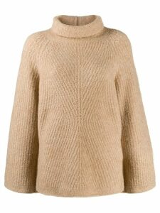 Theory rollneck cable knit sweater - NEUTRALS