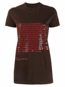 Rick Owens DRKSHDW text print T-shirt - Brown