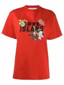 Golden Goose Love Island print T-shirt - Red
