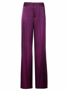 Alice+Olivia Dylan wide-leg satin trousers - Purple
