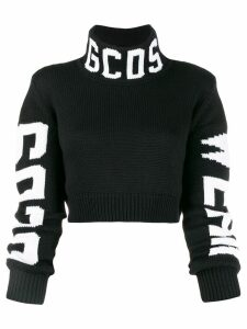 Gcds cropped logo sweater - Black