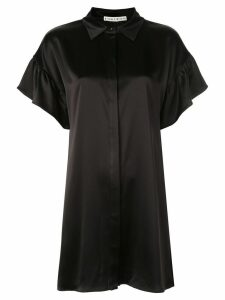 Alice+Olivia Jude ruffled-sleeves shirt dress - Black