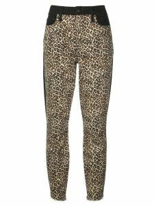 Alice+Olivia leopard print skinny trousers - Black