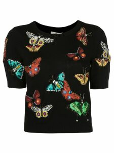 Alice+Olivia Ciara butterfly sweater - Black