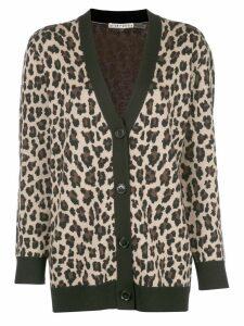 Alice+Olivia Bradford leopard-print cardigan - Black