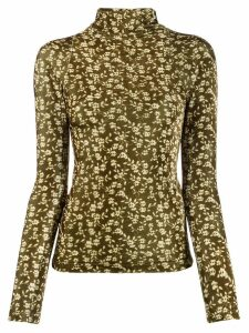 Dodo Bar Or rollneck floral slim-fit sweater - Green