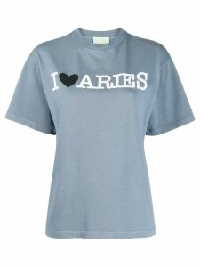 Aries logo print T-shirt - Blue