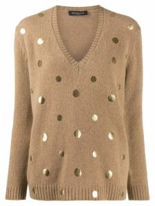 Piazza Sempione metallic dot jumper - NEUTRALS