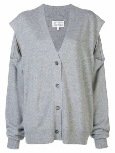 Maison Margiela cold shoulder cardigan - Grey