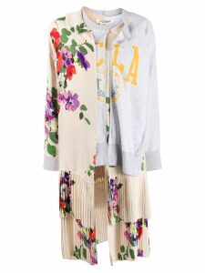 Junya Watanabe floral layered-panel sweatshirt - NEUTRALS