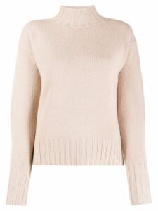 Allude ribbed turtle neck jumper - PINK