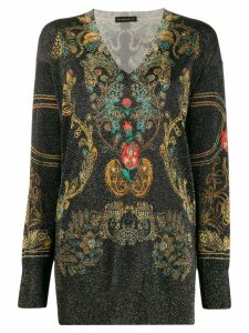 Etro metallic threading jumper - Black