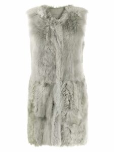Drome faux-fur vest - Green