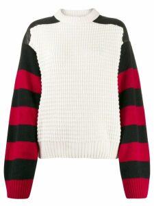 Haider Ackermann Invidia striped sleeve jumper - White