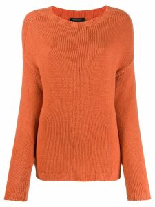 Aragona knitted cashmere jumper - ORANGE