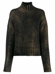 Aragona knitted cashmere jumper - Black