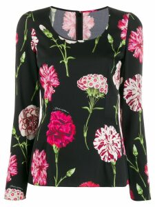 Dolce & Gabbana scoop neck floral print blouse - Black