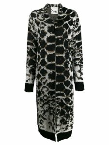 8pm animal print longline cardigan - Black