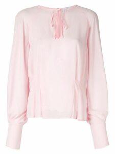 CK Calvin Klein neck-tied peplum blouse - PINK