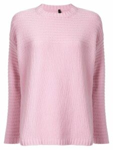 Sara Lanzi crew-neck knit sweater - Pink