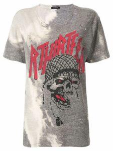 R13 bleached print T-shirt - Grey