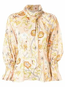 Peter Pilotto Flower Canopy print blouse - PINK