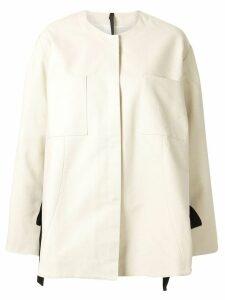Sara Lanzi oversized split jacket - White