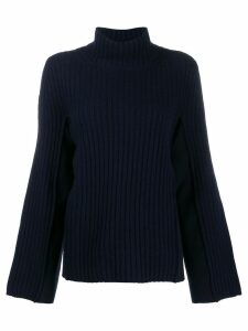 Maison Margiela ribbed high neck jumper - Blue