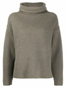 Alexander Wang funnel-neck ribbed sweater - Green