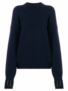Alexander Wang embellished-cuff sweater - Blue