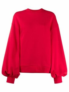 MSGM puffed sleeves sweatshirt - Red