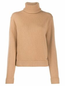 Dsquared2 ribbed roll neck jumper - NEUTRALS