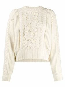 See By Chloé cable knit jumper - NEUTRALS