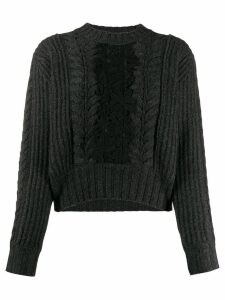 See By Chloé paneled jumper - Black