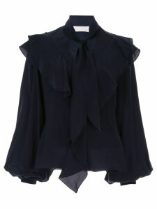 Peter Pilotto ruffled silk blouse - Blue