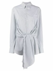 Mm6 Maison Margiela tied waist striped shirt - White