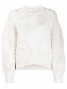 Givenchy oversized sleeves crew neck jumper - White
