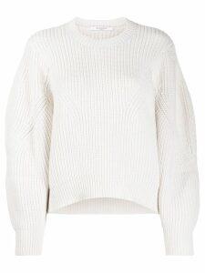 Givenchy oversized sleeves crew neck jumper - White