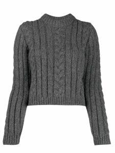 GANNI cable knit jumper - Grey