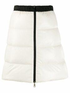 Moncler full zip quilted skirt - White