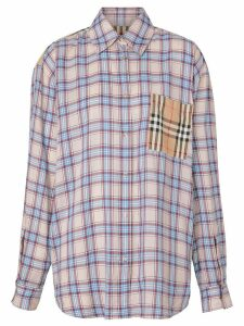 Burberry Vintage Check panel Check Voile shirt - Blue