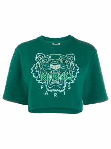 Kenzo Tiger cropped T-shirt - Green