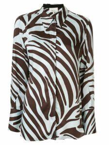 3.1 Phillip Lim Zebra Print Blouse - Blue