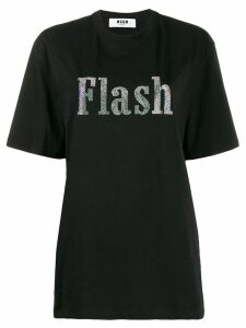 MSGM embellished Flash T-shirt - Black