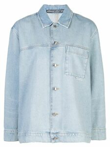 Alexander Wang long sleeved denim shirt - Blue