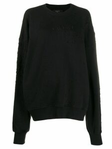 AMIRI Shotgun minimal crew neck sweatshirt - Black