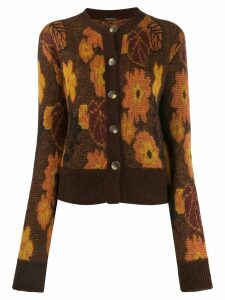 Dodo Bar Or Autumn leaf print cardigan - Brown