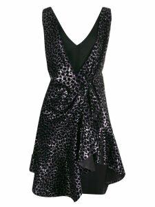 Philosophy Di Lorenzo Serafini animal-print sequinned dress - Black