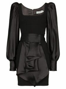 Silvia Tcherassi Dilek balloon sleeve mini dress - Black